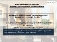 Housekeeping Recruitment Day - Waldorf Astoria Edinburgh - The Caledonian - Wednesday 3rd August