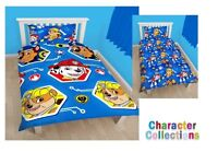 Paw Patrol Single Reversible Duvet Sets - Blue And Pink - Brand New