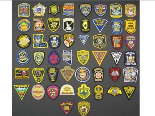 STATE POLICE,PATROL,SHERIFF ALL 50 STATES PATCHES HAT SIZE