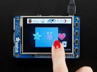 "Raspberry Pi Touchscreen: PiTFT Plus Assembled 320x240 2.8"" TFT + Resistive Touchscreen"