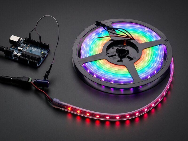 Adafruit NeoPixel Digital RGB LED Weatherproof Strip 60 LED -1m - WHITE