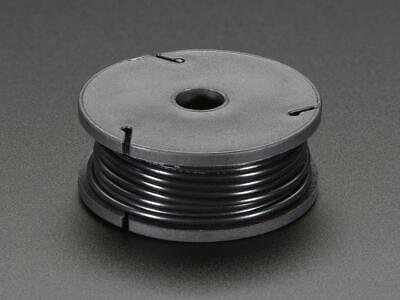 Adafruit Solid-core Wire Spool - 25ft - 22awg - Black