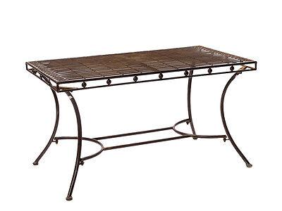 Nostalgie Gartentisch Garten Eisen Tisch Loungetisch Antikstil braun garden