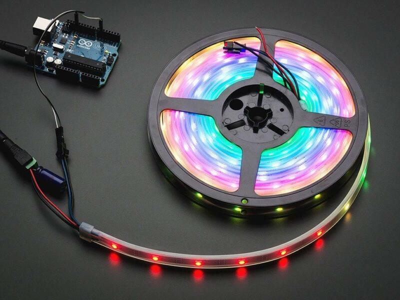 Adafruit NeoPixel Digital RGB LED Strip - Black 30 LED - 1m - BLACK