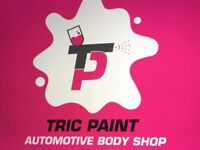 TRIC PAINT, car & motorbike body repairs & respray.