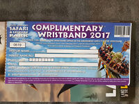 West Midland Safari Park 2 x Adult & 3 x Child Wristbands For Rides