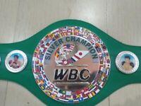 WBC silver champion boxing belt not gloves