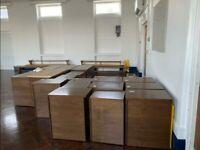 3-drawer Dark mahogany pedestals/under desk drawers/storage unit