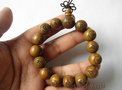 1.5cm Buddhist Monk Sandalwood Shaolin Temple Prayer Mala Beads  - Monk Beads