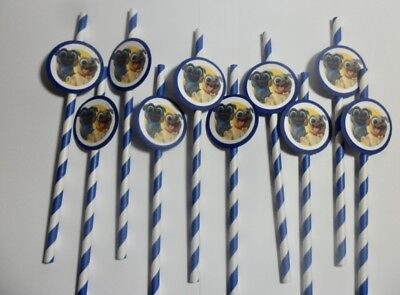 Puppy Dog Pals, straws, party favors, supplies, cake pops, drinks  SET OF - Cake Pops Supplies
