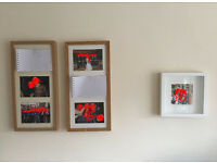3 x Wooden IKEA Picture Frames