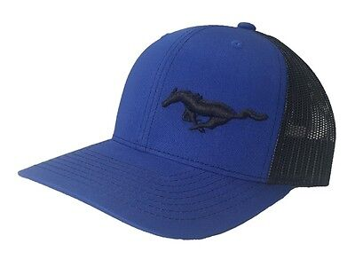 Richardson Ford Mustang Logo Snapback Hat, Custom, Trucker Cap for Men and Women (Customes For Women)