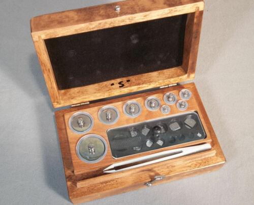 Christian Becker Stainless Steel Calibration Weight Set 0.5 mg - 100 gr, 18 pcs