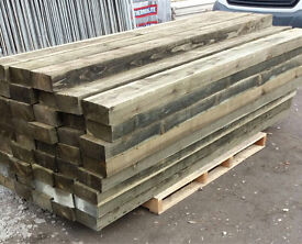 Pressure Treated Timber/ Wooden Railway Sleepers * Various Sizes 🌳
