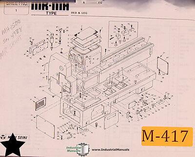 Mori Seiki Mr-mh Lathe Parts List And Assemblies Manual