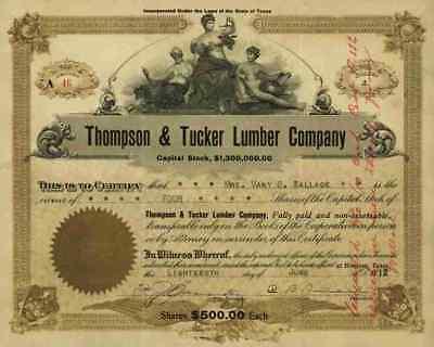 Thompson & Tucker Lumber Company 1912 Willard Houston Texas Douchette Trinity #