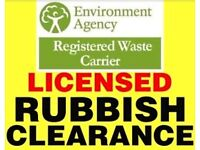 MAN AND VAN RUBBISH/WASTE COLLECTION/CLEARANCE ALL DOMESTIC/COMMERCIAL WASTE REMOVED .