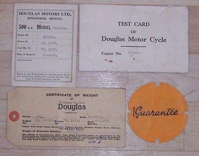 1932 ORIGINAL DOUGLAS  500cc  BULLDOG  PAPERWORK ENGINE  FRAME & GEAR BOX NO ETC