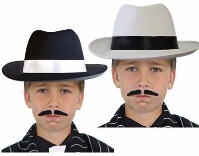 1920 Kinder Kostüme (Il Kinder Gangster Hut Jungen 1920s Jahre Verkleidung Kinder Kostüm Mafia)