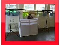 *£350 SHOP PRICE* Equinox dj booth system dj deck stand & cover dj stand dj controller pioneer cdj