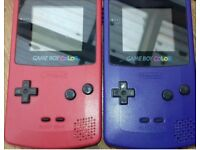 Original Game boy Purple and Red with Games