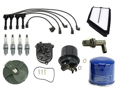 Honda Prelude 92-96 2.3l Ignition Tune Up Kit Filters Cap Rotor Spark Plugs Wire on Sale