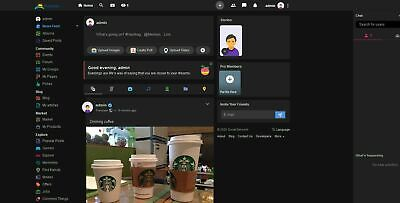 Social Networking Website Black Theme Free Install Hosting Ssl Update