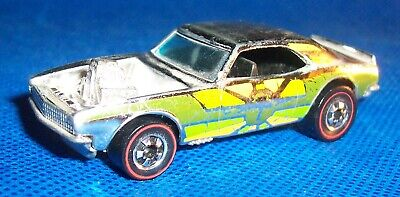 1969 Hot Wheels REDLINE #7 HEAVY CHEVY Green Yellow CHROME Flying Colors RARE!