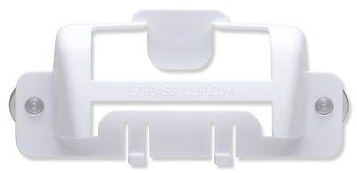 Ez Pass   Ipass Izoom Holder New Style Mini Tag Holder  Ezpassclip  White