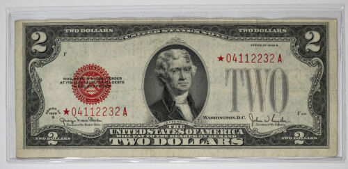 1928 G LEGAL TENDER NOTE $2 RED SEAL FR.1508* STAR NOTE VF VERY FINE (232A)