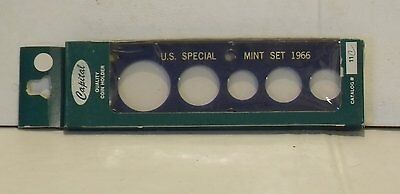 1966 Capital Plastic 2  X 6  5 Coin  U S  Special Mint Set    Dark Blue