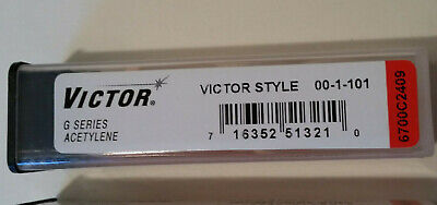 New Victor G Series Cutting Torch Tip For Acetylene Oxygen 00-1-101 Size 00