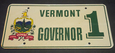 VERMONT GOVERNOR 1 LICENSE PLATE
