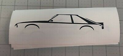 93 Mustang Lx Hatchback (87-93 Foxbody Mustang Hatchback silhouette sticker decal SVT GT LX All)