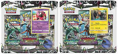 Pokemon Celestial Storm 2 Blister Packs Tapu Lele + Tapu Koko Promo Sun & Moon