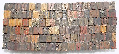 116 Piece Vintage Letterpress Wooden Type Printing Blocks 12 M.m.used Bc-1912