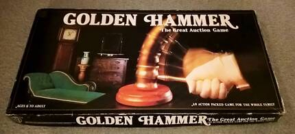 """Vintage Golden Hammer """"Auction"""" Board Game 1983 Complete Golden Grove Tea Tree Gully Area Preview"""