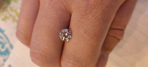 RARE 1.57 Ct Round Brilliant GIA Certified Lab Grown Diamond.  VVSI VG VG