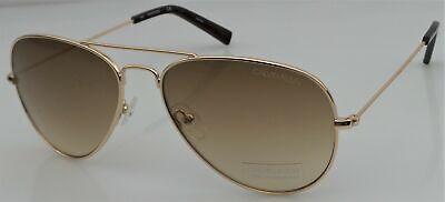 Calvin Klein CK19134S 717 Women's Gold Frame Designer Aviator Sunglasses NEW