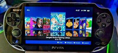 Black PS Vita Playstation Vita OLED 128GB 3.65FW Henkaku Enso [PSP, PS1, Retro]