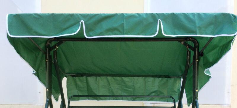 2+Seater+Canopy+for+Wooden+Swing+Seat+Hammock+-+Dark+Green+-+NYLON