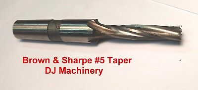 Brown Sharpe 5 Spindle Taper End Mill Tool Cutter Milling Machine Tooling Bs