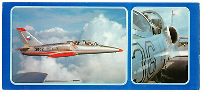 AERO L-39 Albatros AVIA Czech Czechoslovakia Aircraft Fly Original VTG Postcard for sale  Shipping to United States