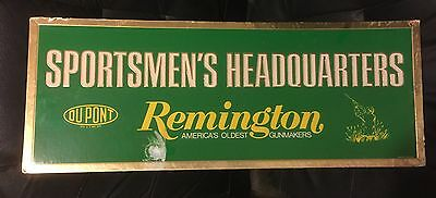 VINTAGE REMINGTON DUPONT Store Display Sign GUN HUNTING BULLET Advertising