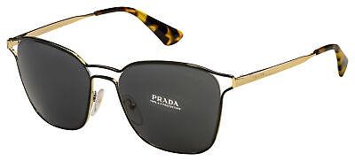 Prada Sunglasses PR 54TS 1AB5S0 55 Black/Gold Frame | Grey (Prada Sunglasses Gold Frame)
