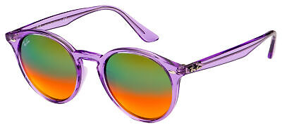 Ray-Ban New Wayfarer Sunglasses RB 2180F 6280A8 49 Violet | Orange Gradient (Orange Mirrored Wayfarer Sunglasses)