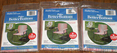 3 Phifer Better Bottom Replacement Cover Aluminum Lawn Chairs Burgundy