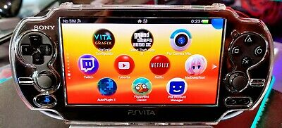 Black PS Vita Playstation Vita 256G OLED 3.65fw Henkaku Enso with accessories
