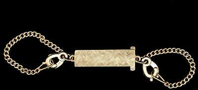 Vintage 14kt Solid Gold Key Chain Florentine Center 12.90 Grams Yellow -