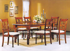 Ethnic Design Wooden Dining table with 4 chair  & 2 Arm chair set !